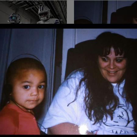 Dak Prescott with his late-mother, Peggy Prescott