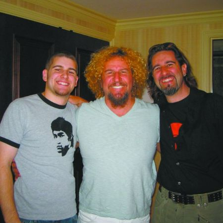 Photo of her ex-husband and two sons, Andrew and Aaron.