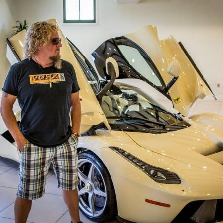 Sammy Hagar with his $1.3 million LaFerrari.