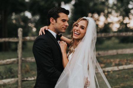 Lauren Swickard with her Husband on their wedding