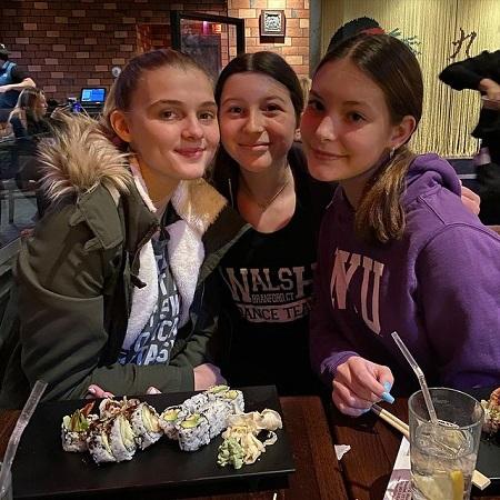 Skylar Dunn with her friends,
