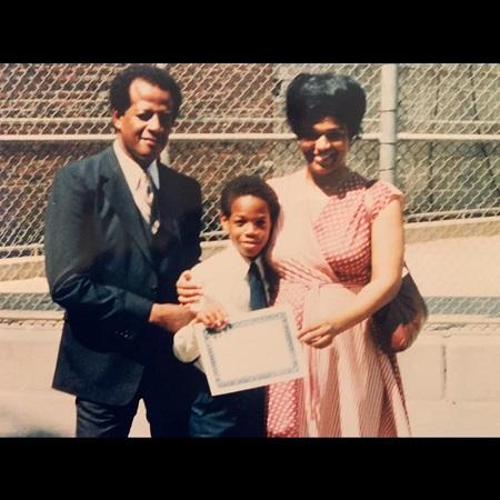 Damon Wayan with his parents