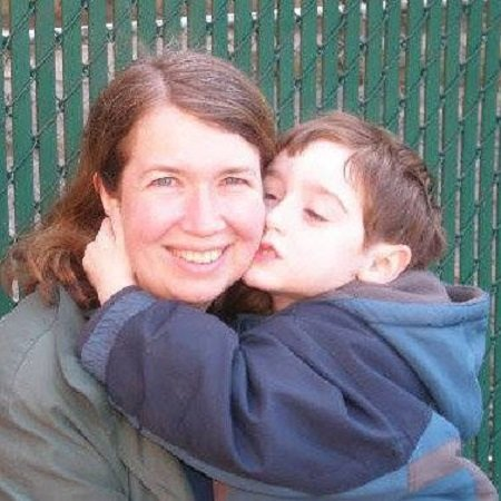 Ellis Rubin with his mom