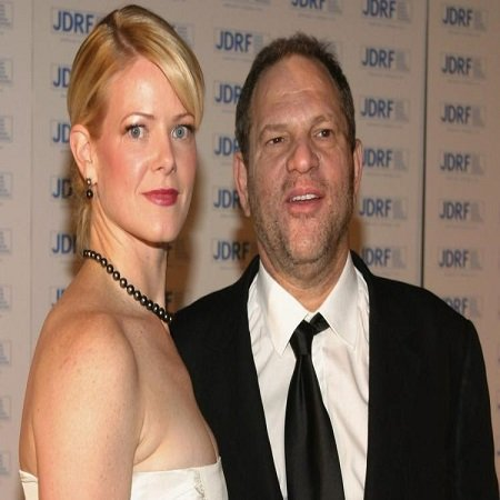 Eve Chilton with his ex husband Harvey Weinstein
