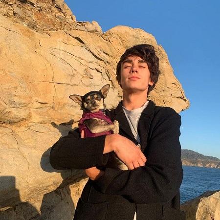 His puppy