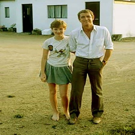 Emma Nettle with her father