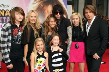 Kristin Luckey Son Christopher Cody Cyrus with his dad and half siblings