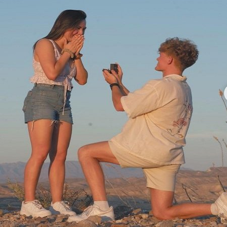 Ryan Trahan and Haley Pham engagement photo