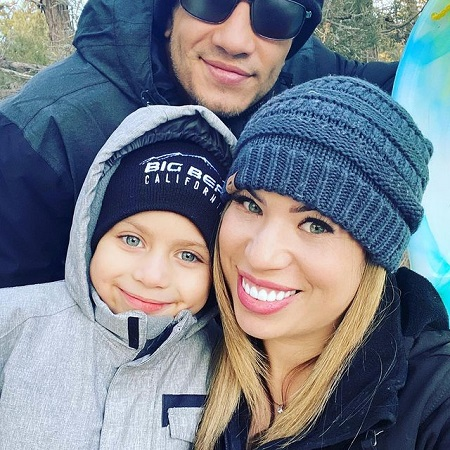 Christina Servin with her husband Tony Ferguson and son