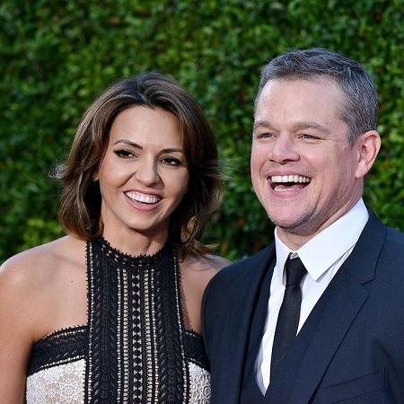 Stella's mother Luciana Barroso with her ex-husband Matt Damon