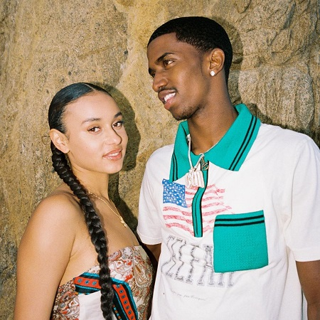 Christian Combs with his girlfriend