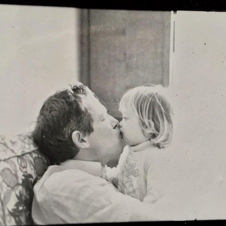 Ella Smith with her father
