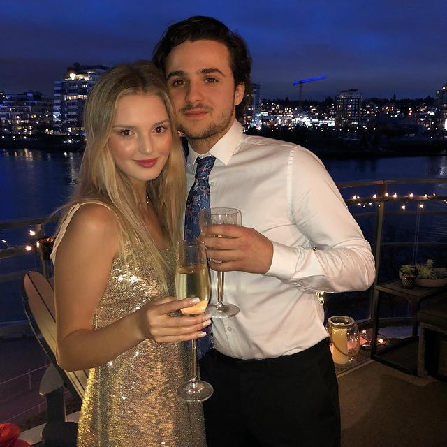 Dylan with his girlfriend, Kaitlyn on her birthday