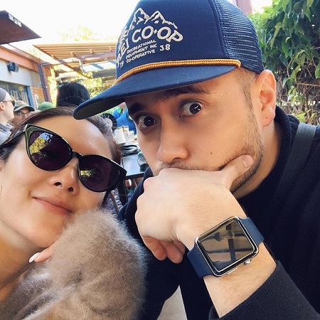 Ally Maki with her fiance