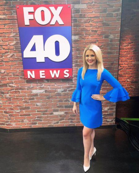Bridgette Bjorlo at the Fox40 Channel office