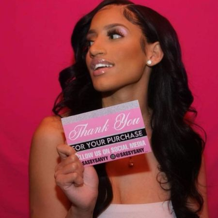 Dasany Kristal Gonzalez promoting a product