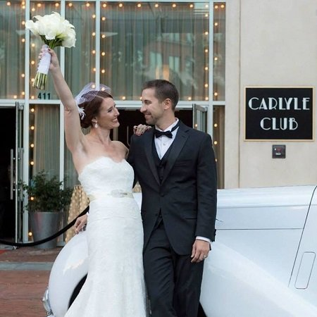 Kristen with her husban Andrew Evan Smith in her wedding, image source Frederick News Post