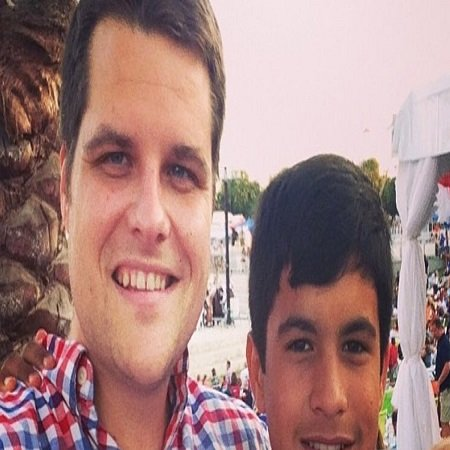 Matt with his biological son Nestor,