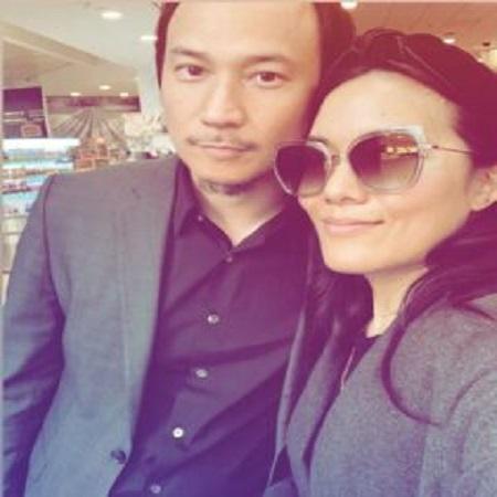Justin Hakuta with his wife Ali-wong