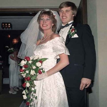 Janet with her former-husband; John Elway