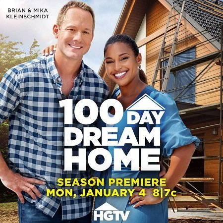 Brian and his wife celebrating New Year releasing their show 100 DAY DREAM HOUSE,