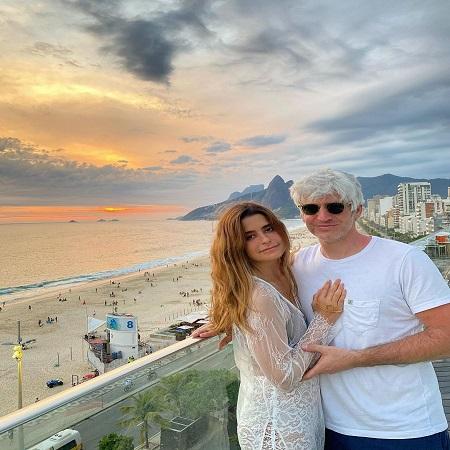 Priscila travelling around with her husband Max Joseph