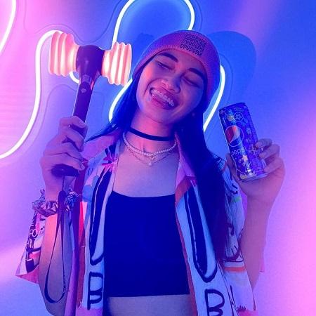 Pamela promoting Pepsi