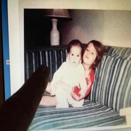 Paget with her younger brother Ivan while they were kids