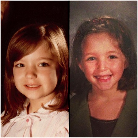 Jennifer posted a pic of her childhood pic with her daughters pic,