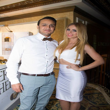 Natalia with her former husband,