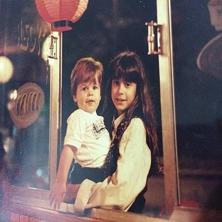 Priscila Joseph with her brother pedro Demarche, source Instagram