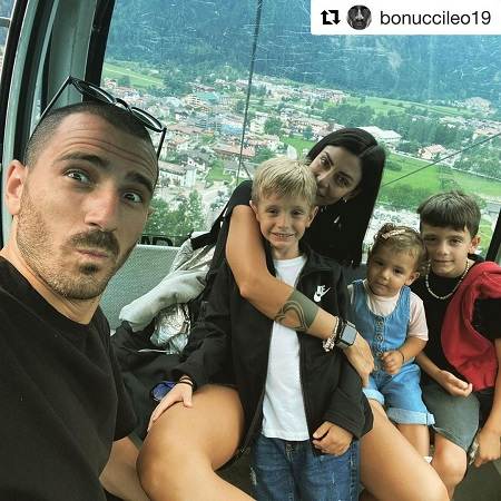 Martina enjoying with her family , source Instagram