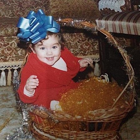 Edurne Gracia when she was just a little kid
