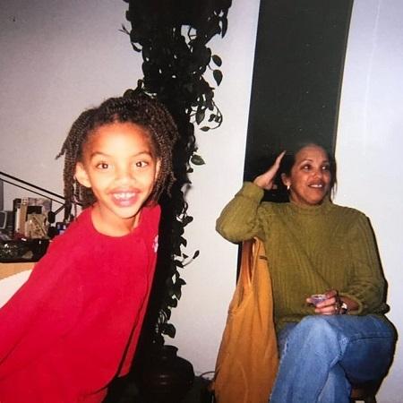 Slickwood with her grandma in Los Angeles, source Instagram