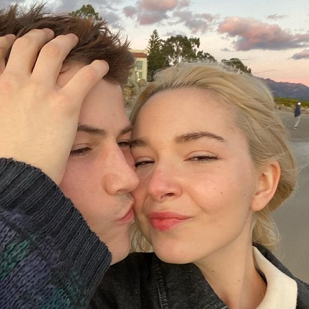 Lydia with her Boyfriend Dylan Minnette in Valeme day, source Instagram