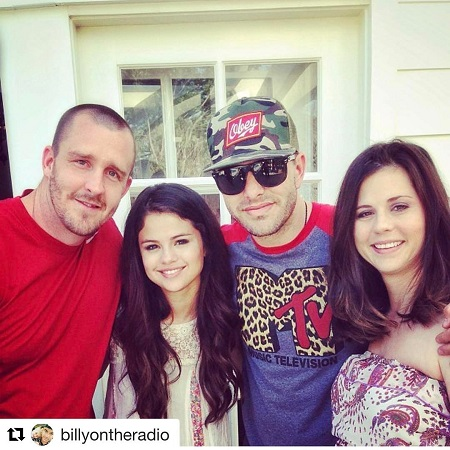 Mandy with her family in her daughter Selena's first photoshoot,