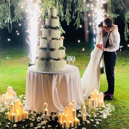 Martina and Leonardo in their wedding ceremony