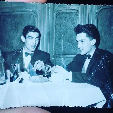 Dukagjin father having a drink in 1960s city of peja