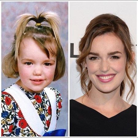 Elizabeth Henstridge before and now, source Pinterest