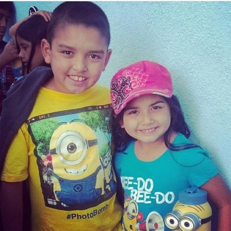 Julia with her elder brother Jaxon, source Instagram