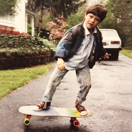 BAM in his first skateboard, source Instagram_files