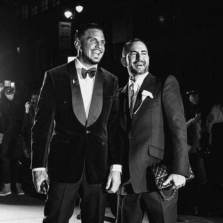 Char with his husband Marc Jacobs, source Instagram