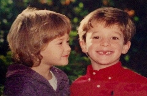 Emily Trebek with her brother Matthew Trebek in early age, source Insidewink
