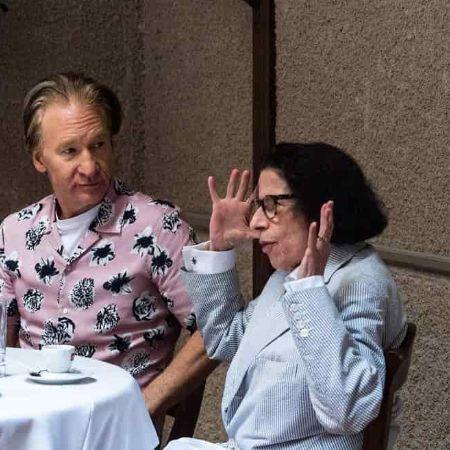 Fran with talkshow host