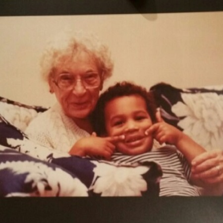 Matte on his childhood with his grandma, source Instagram