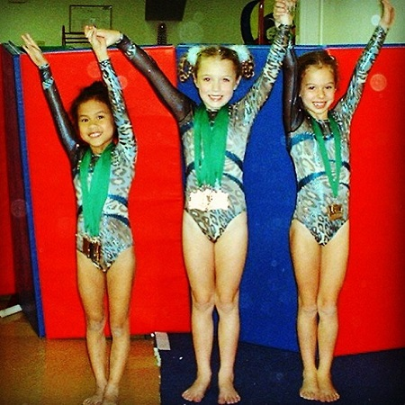 Samantha began gymnast from a very young age, source Instagram