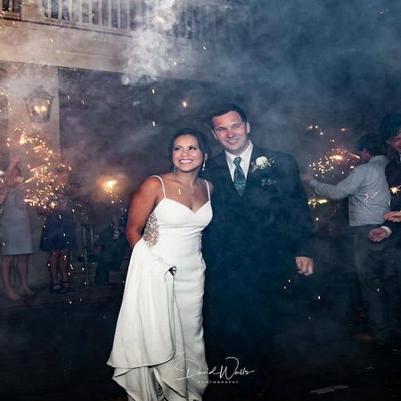 Samantha on her wedding day, source Instagram