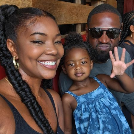 Gabriella with her husband Dwyane and their gorgeous daughter Kaavia, Source Instagram
