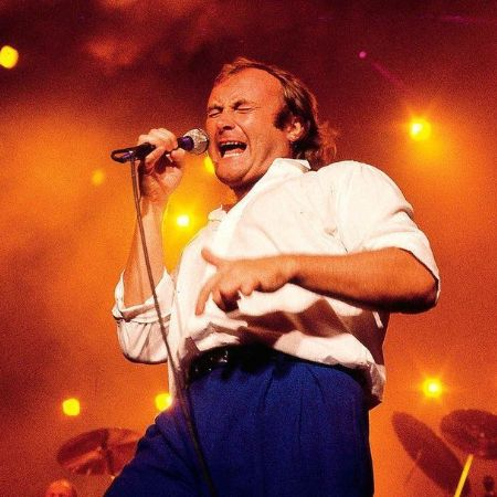 Phil Collins performing