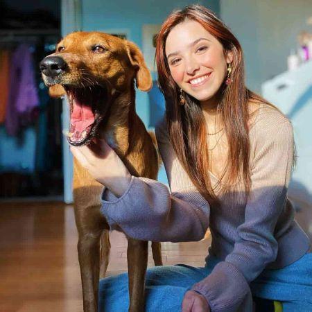 ASMR with her Dog